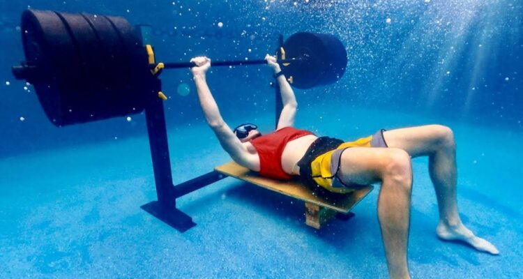 Dude Perfect - Trying to Bench 405lbs Underwater