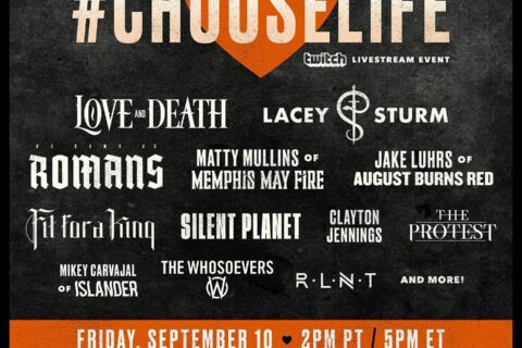 """Lacey Sturm and Brian """"Head"""" Welch reflect on #ChooseLife as Suicide Prevention Month comes to an end - Love & Death and Lacey Sturm to headline groundbreaking suicide prevention livestream on Twitch"""
