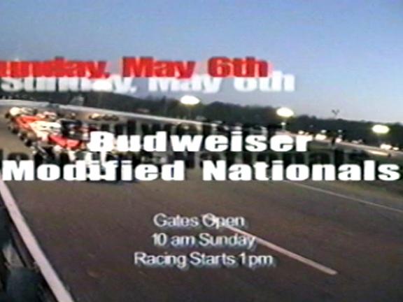 Speedbowl TV Ad – 2001 Budweiser Modified Nationals + NASCAR Modifieds