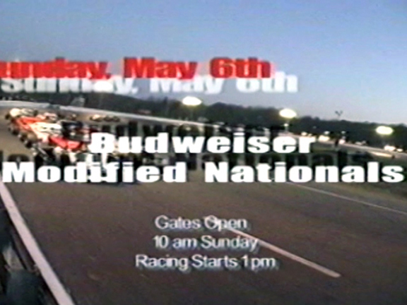 Speedbowl TV Ad – 2001 Budweiser Modified Nationals + NASCAR Modifieds