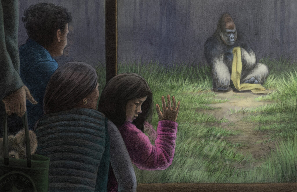 Girl and Gorilla