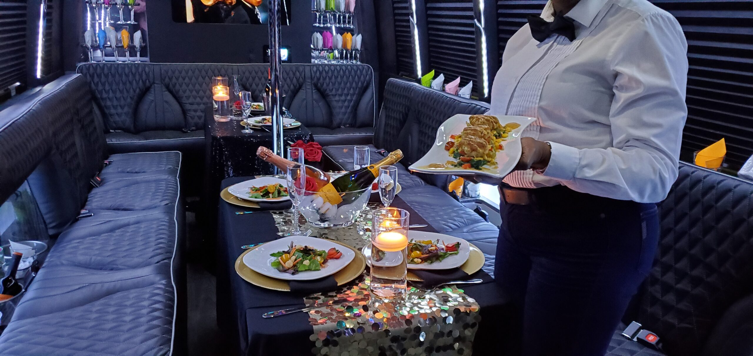 Dicko Transportation 24 Passenger Party Bus Dinner service