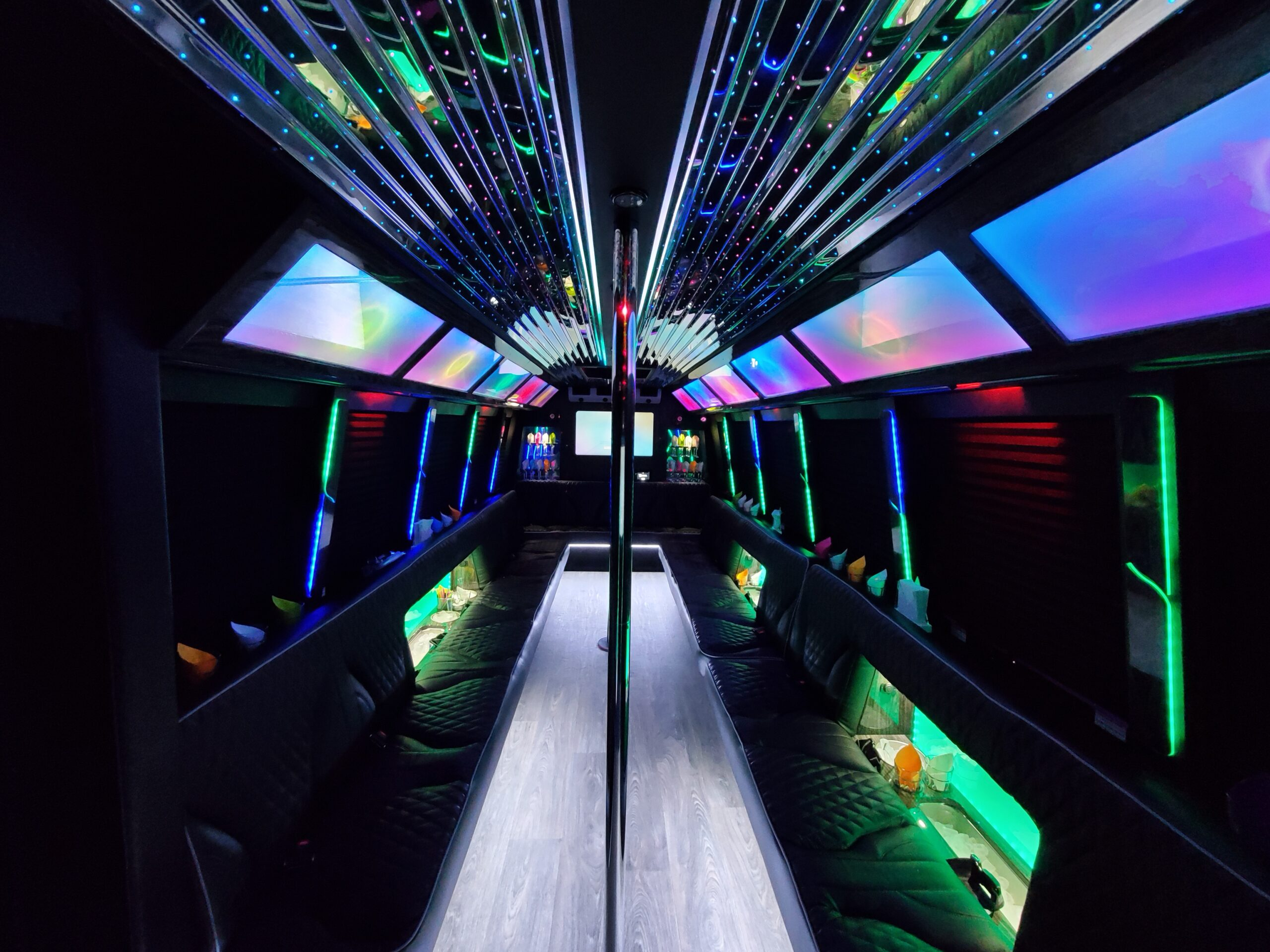 Dicko Transportation 24 Passenger Party Bus with 3 bars