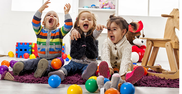 Kids playing in room