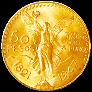 Mexico Gold 50 Pesos Centenario