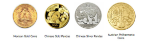 Sell Panda gold coins