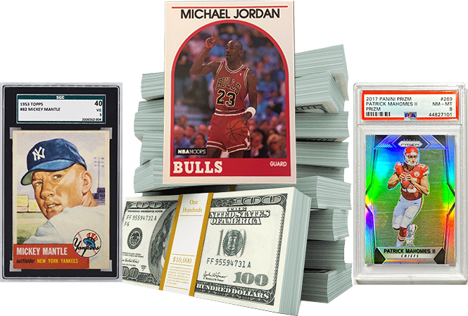 WE BUY SPORTS TRADING CARDS