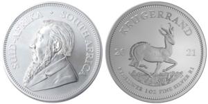 1 oz South African Silver Krugerrand Coin (BU)