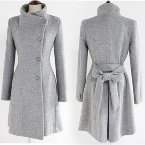 grey business trench