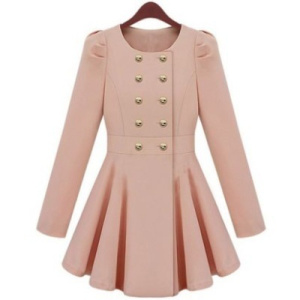 pink-flare trench coat