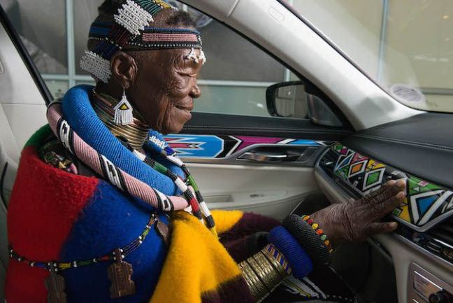 Photo of BMW SA Unveils An Esther Mahlangu Crafted Car