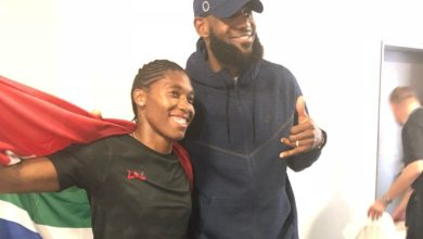 Photo of Levels: LeBron James Comes To Watch Caster Semenya Race