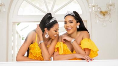Photo of Twin Love! Blue Mbombo Gushes Over Her Twin Sister Brown