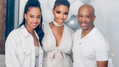 Photo of Here Is How Nhanhla Nciza Made Sure Theo and Vourne Kgosinkwe Looked Spectacular On Their Wedding Day
