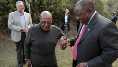 Photo of Cyril Ramaphosa Sings Archbishop Desmond Tutu's Praises In A Heartfelt 89th Birthday Message