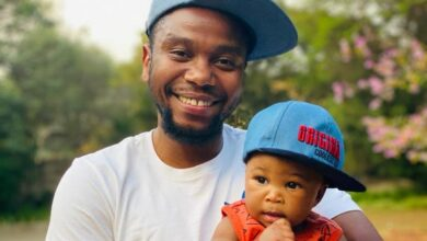 Photo of Thomas Gumede Gushes Over His Son and Appreciates Baby Mama