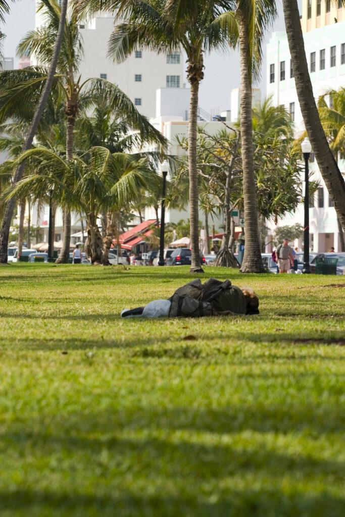 homeless man florida