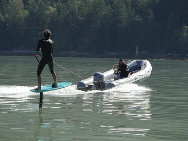 Wakeboarding with a hydrofoil, Squamish BC - Squamish Watersports Ltd