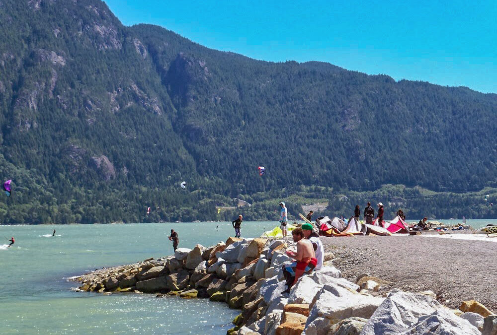 The Squamish Spit, a popular spot for KiteBoarding