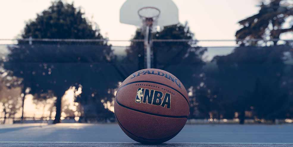 nba basketball and hoop