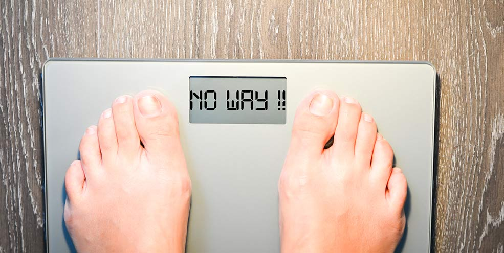 weight scale reading no way