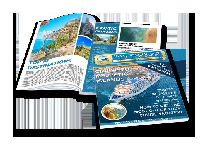 Travel Ticket Magazine Mockup