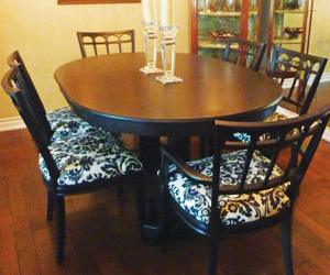 refinished dining table
