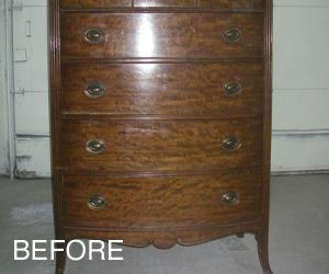 dresser before