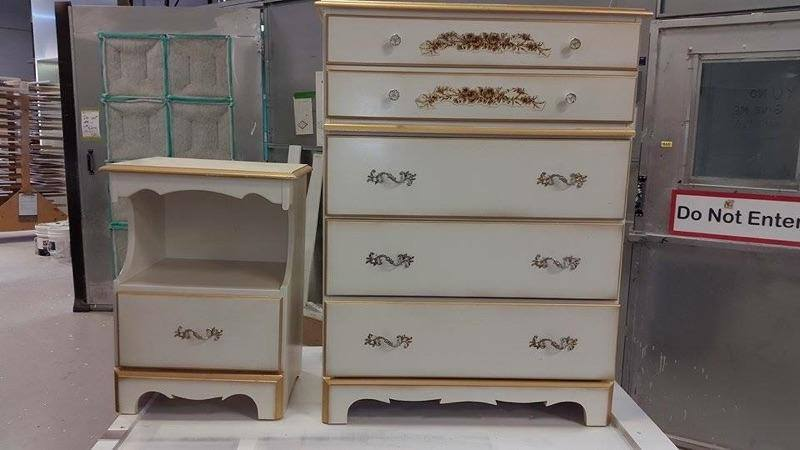 Refinished Drawers - Before