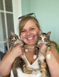Dr. Kelli Schindler Brown, veterinarian, at Three Rivers Animal Hospital