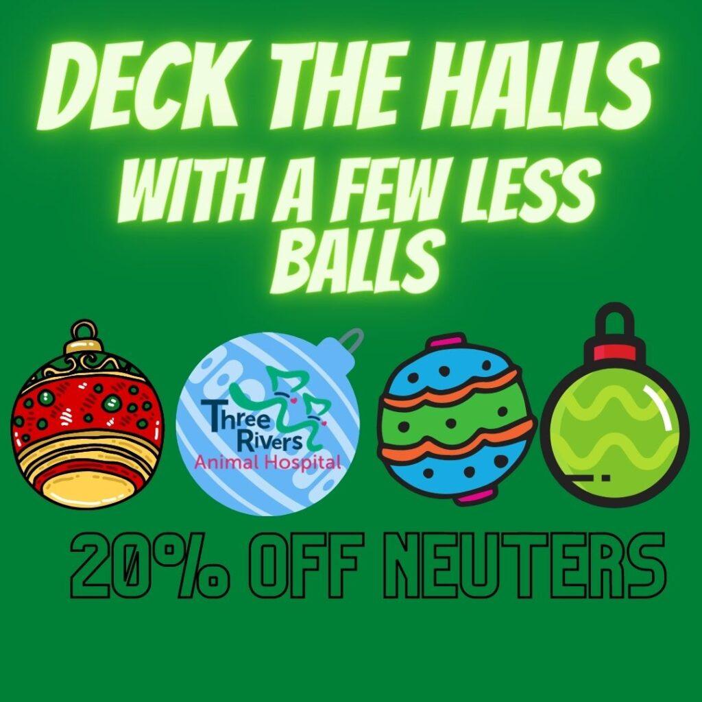 december deck the halls with a few less balls specials