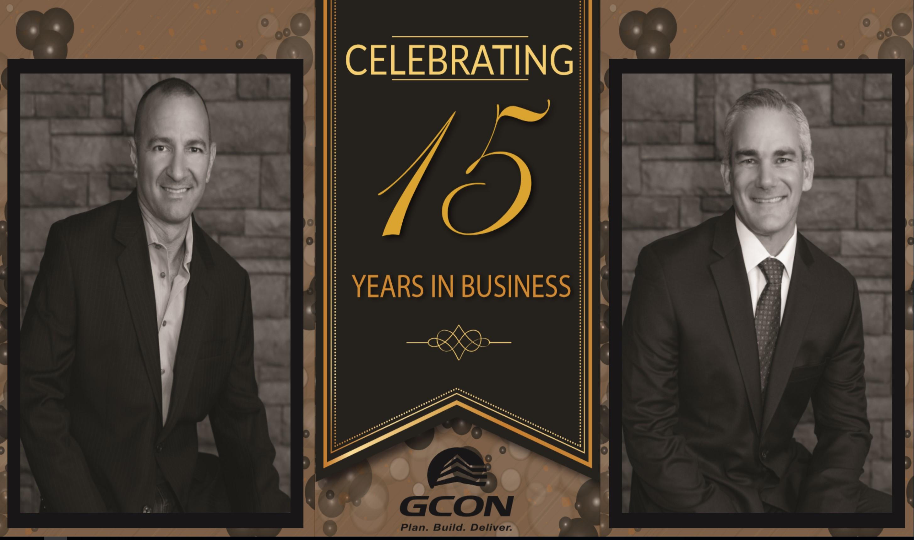 GCON celebrating 15 years