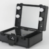 all black side profile vanity travel case