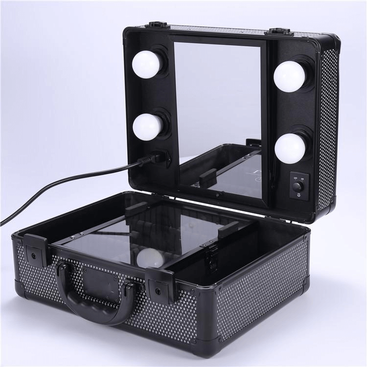 black vanity travel case