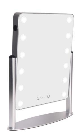 silver cosmetic mirror