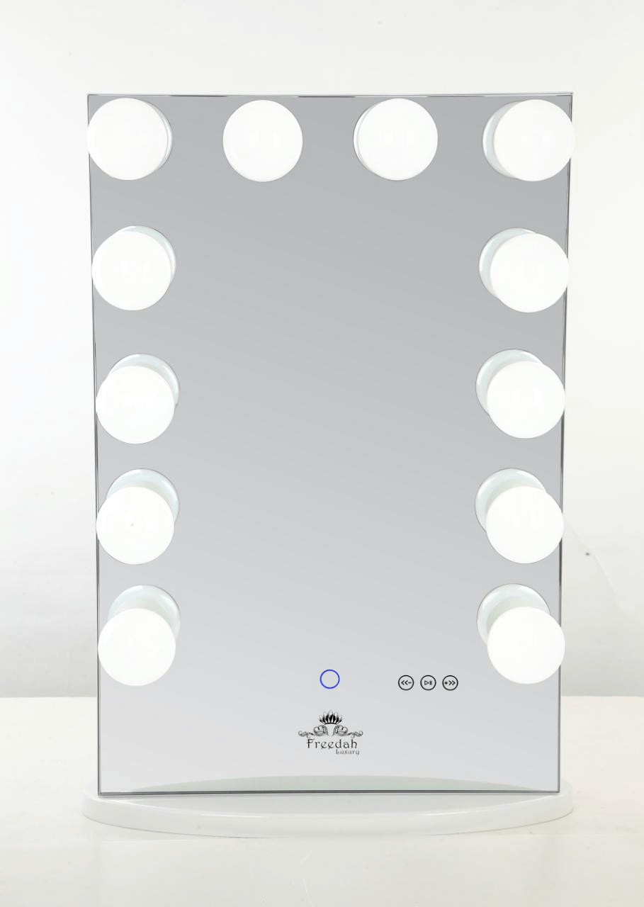 tall frameless hollywood vanity mirror