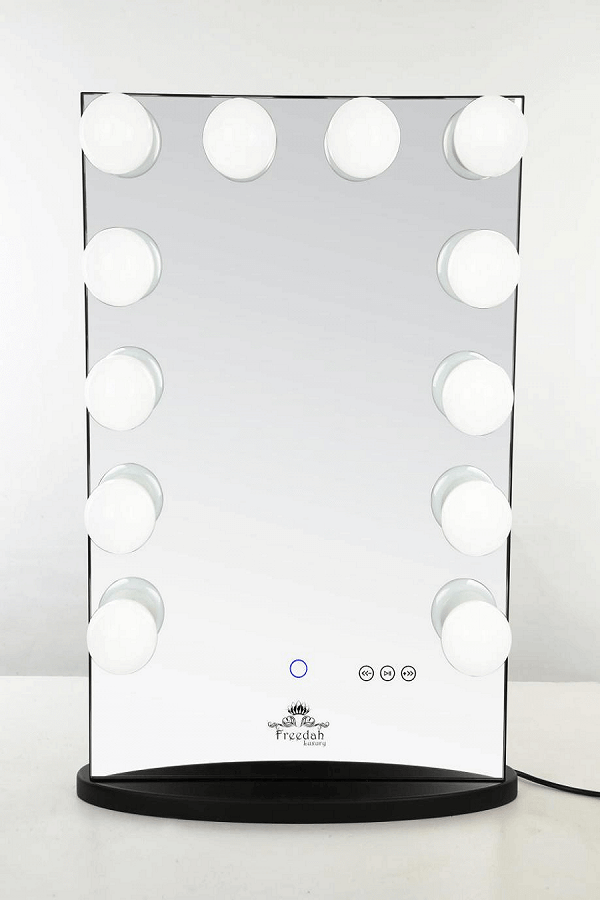 tall black Hollywood vanity mirror