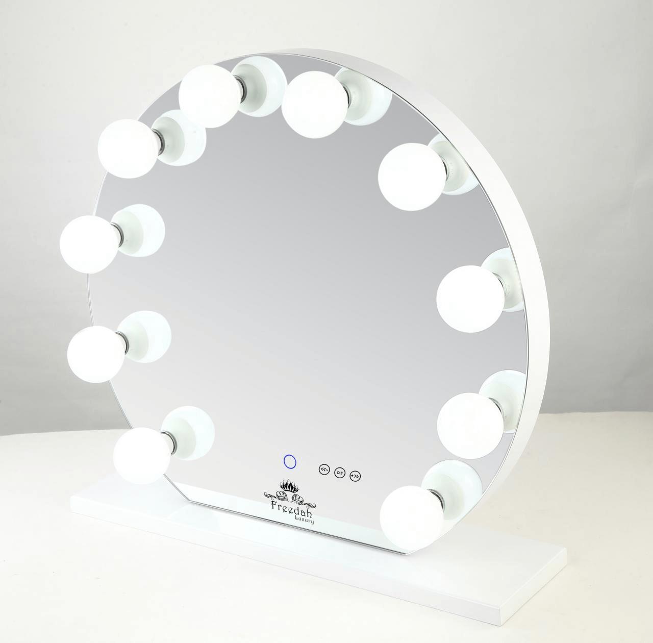 round frameless Hollywood Vanity mirror