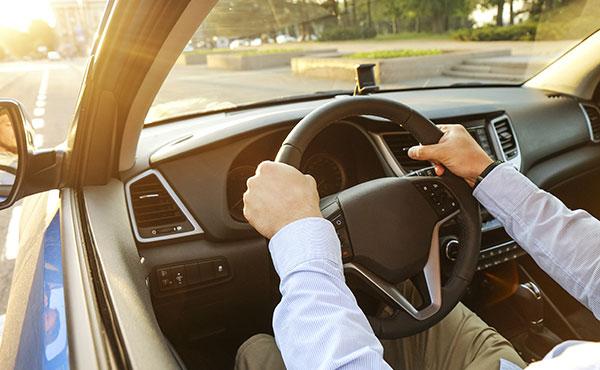 customer driving down road