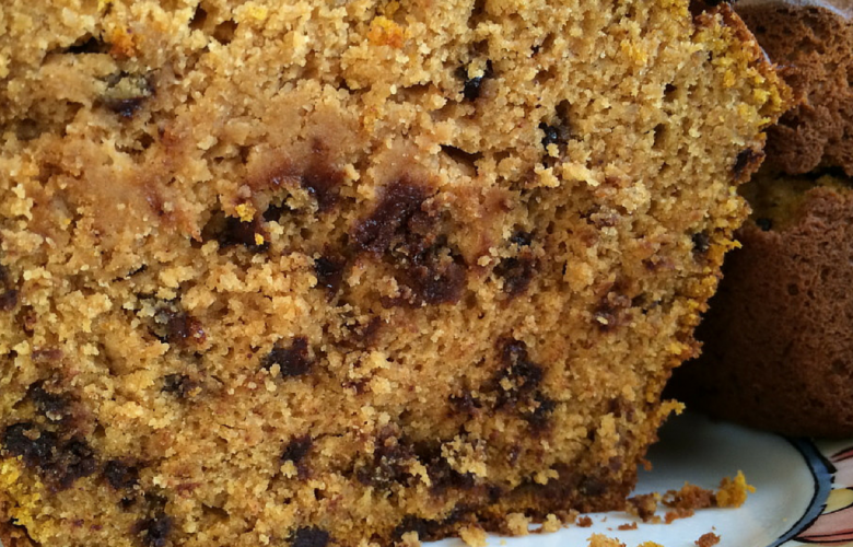 GlutenFree & DairyFree Pumpkin Chocolate Chip Bread