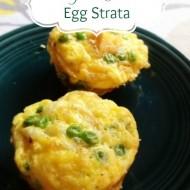 Cheesy Veggie Egg Strata Dairy and Gluten Free
