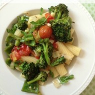 One Dish Vegetable Pasta #glutenfree #vegan
