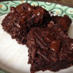 These flourless black bean brownies are on the gooey side which is fine with me…and so yummy.  I think I am going to be hooked on flourless baking, well at least some things for now.