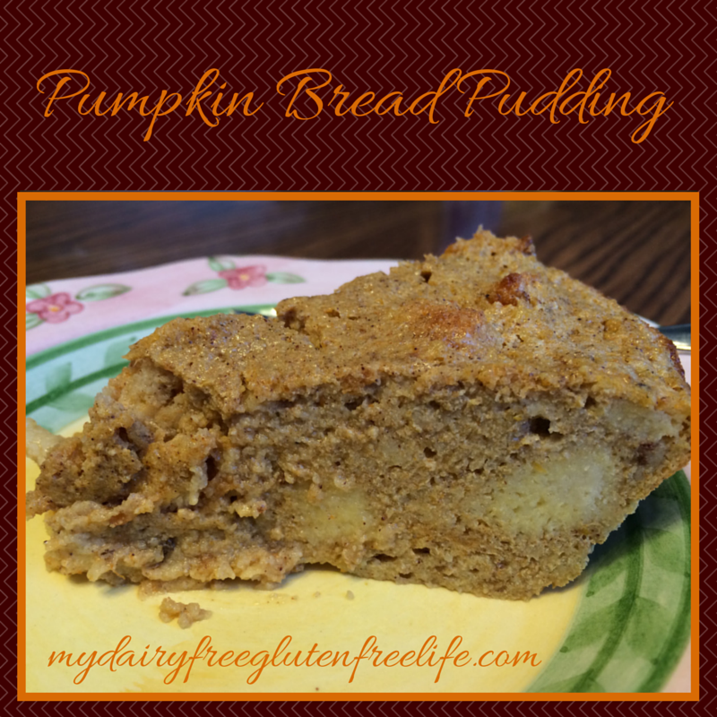 Dairy & Gluten Free Pumpkin Bread Pudding Recipe