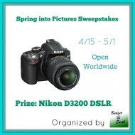 Win a Nikon D3200 DSLR and Spring into Pictures