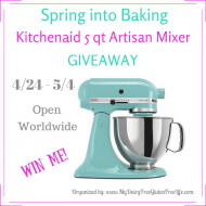 Spring into Baking with this Kitchenaid 5qt Artisan Mixer Giveaway