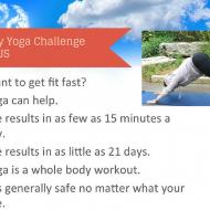 21 Day Yoga Challenge & FREE e-book