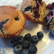 Blueberry Muffins with Nancy's Cultured Soy Yogurt