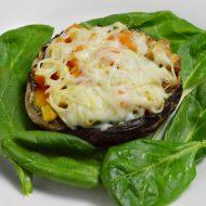 Cajun Chicken Stuffed Portabello Mushrooms,  Gluten and Dairy Free