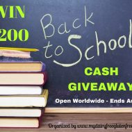 $200 Back to School Cash Giveaway